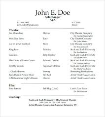 Theatre Resume Template Awesome 348 Theatre Resume Template Student Actor Resume Template Acting Cv