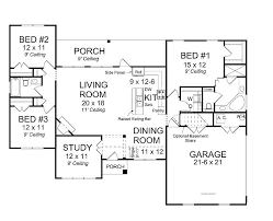 one story open floor plans ranch style one story house plans best of modern open floor