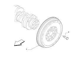 Crankshaft and flywheel