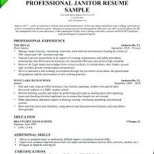 Janitor Resume Sample Extraordinary Janitorial Cover Letter Janitor Resume Objective Sample Janitor