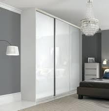 enchanting premium midi single panel sliding wardrobe doors in pure white glass with satin silver frame
