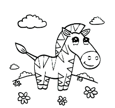 Coloring Pages Zebra The Of In Page Anime Princess Animals Cute Dpalaw