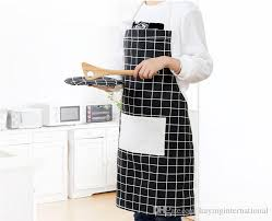 Japanese Apron Pattern Impressive Adjustable Cotton Lattice Pattern Apron Chef Waiter Kitchen Cook