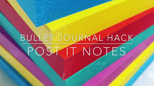 Watch Post It Notes Bullet Journal Hack Post It Notes Youtube