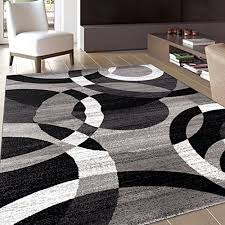 contemporary modern circles gray area rug abstract 7 10 x 2