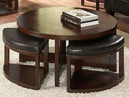 round coffee table ottomans underneath incredible round coffee table with ottomans underneath with marvelous round coffee