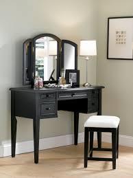 mirror black desk vintage espresso wooden