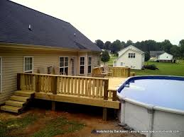 above ground pool with deck attached to house. Image Of: Building Above Ground Pool Deck With Attached To House