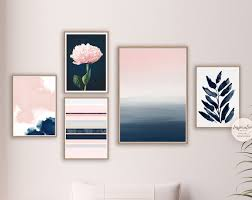 pink navy art inspiration abstracts