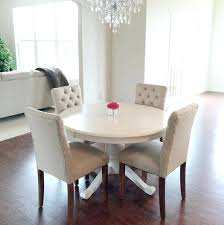 elegant white dining room table round sets and chairs 6