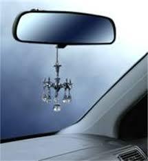 decorative mini chandelier w crystals rear view mirror ornament car accessory