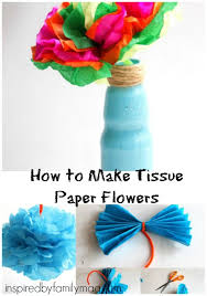 Tissue Paper Flower How To Make How To Make Tissue Paper Flowers