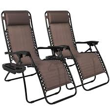 Patio Recliner Chairs Best Choice Products Zero Gravity Chairs Case Of 2 Lounge Patio