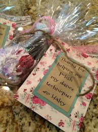 End of year gift for our favorite dance teachers!   My creations ...