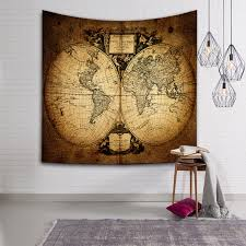world map tapestry hippie wall hanging bohemian bedspread