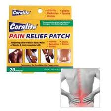 coralite pain relief patch side effects