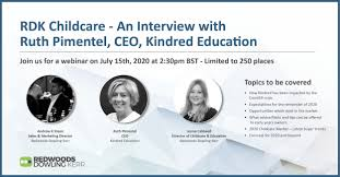 Join us on Wednesday 15th July at 2.30pm for a live interview with Ruth  Pimentel, CEO of Kindred Education - Redwoods Dowling Kerr