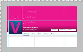 facebook page template 2014. Contemporary 2014 Facebook Business Page Template Preview With Dimensions Throughout 2014