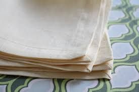 Next up, the formal miter-cornered napkin. Linen is usually the fabric of  choice for formal table linens, so I went with this lovely pale  wheat-colored ...