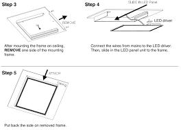 surface mount frame hardware for skylight led panel light 2x2 flush mounting frame kit for skylight i me led panel light 2x2