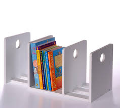 book ends for children circle extending bookends white