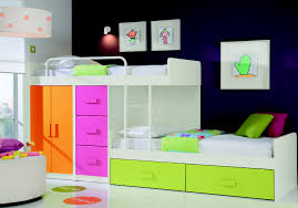 colorful kids furniture. Exellent Colorful Colorful Kids Bedroom Furniture With Wooden Cabin Bed And Drum Pendant  Lighting In Pink On