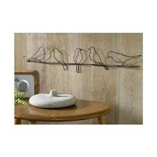 bird on a wire  on metal wall art birds on a wire with graham brown 24 in x 5 in bird on a wire by graham and brown