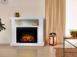 mad electric fireplace media cabinet in white nefp24 2217w