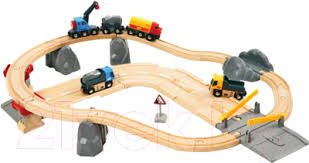 <b>Железная дорога</b> детская <b>Brio</b> Дорога с автодорогой 33210