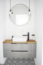 Cozy Ideas Round Bathroom Mirror With Lights Cabinets For Moroccan