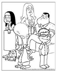Small Picture American dad coloring pages logo Adult Cartoon Colouring Pages