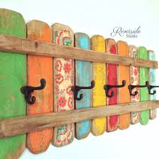 Small Picture Rustic Home Decor Coat Rack Handmade Reclaimed Wood Bohemian