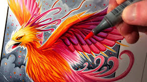 Lets Draw A Phoenix Fantasy Art Friday Youtube
