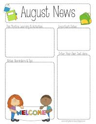 Teachers Newsletter Templates 001 Free Newsletter Templates For Preschool Teachers