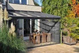 glass patio canopy