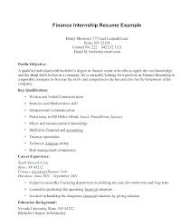 Summer Internship Resume Examples Objective For Resume Accounting Hotwiresite Com