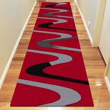 red runner rug attractive and white striped newbikes club intended for 8