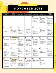 November Through November Calendars Your November Workout Plan Blogilates