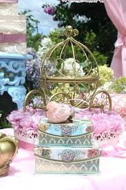 princess theme baby shower decorations vintage party chandelier pink table setting carriage favors