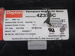 dayton 1hp permanent magnet dc motor 4z378c