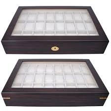 jewelry display box. Beautiful Display 24 Ebony Wood Mens Watch Display Glass Top Case Organizer Collector Jewelry  Box 640671038010  EBay With K
