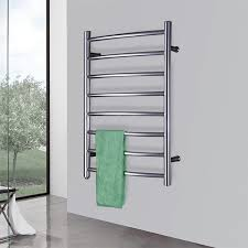 towel warmer rack. Curve Bar Electrical Heated Towel Warmer Rack Stainless Steel Polish Dryer Rails Wall Mount Style E