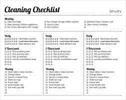 Weekly House Cleaning Chart Weekly House Cleaning Schedule Pdf Planner Template Free