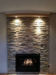 fireplace lighting. stone fireplace with lights lighting p