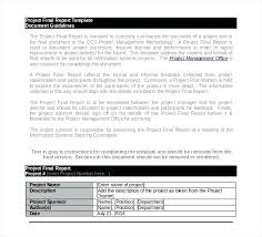 Project Management Post Mortem Template Sample Project Report Template
