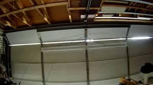garage door lightsI love this Installing 4 LED light fixtures on my overhead