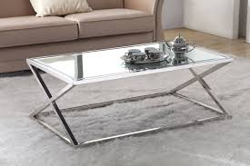 stainless steel coffee table cross legs base type chrome finish for glass steel coffee tables