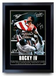 HWC Trading Rocky IV The Cast Rocky 4 Sylvester Stallone Dolph Lundgren  Carl Weathers Gifts Printed Poster Signed Autograph Picture for Movie Fans  A3 Framed- Buy Online in Faroe Islands at faroe.desertcart.com.