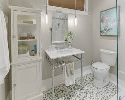 multi color bathroom mosaic floor tile with small bathroom vanity under small frameless mirror and bathroom vanity mirror pendant lights glass