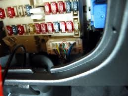 nissan maxima how to s by housecor how to wire umnitza dde s to tap the green wire circled in red a quick splice be sure the wire is long enough to reach from the fuse box to the switch